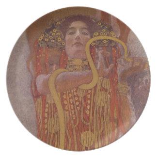 Hygeia de Gustavo Klimt Plato De Cena