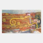 Hygeia de Gustavo Klimt Rectangular Pegatina