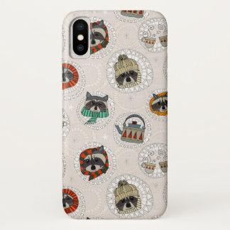 hygge raccoons iPhone x case