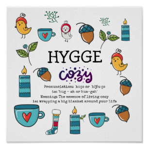 3596bc0fb4ee HYGGE - The Meaning and Pronunciation Cute Custom Poster