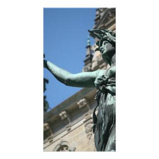 Hygieia Fountain, Hamburg, Germany Photo Card Template