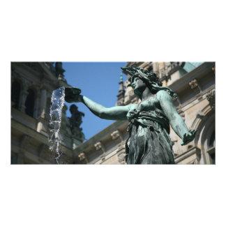 Hygieia Fountain, Hamburg, Germany Photo Card