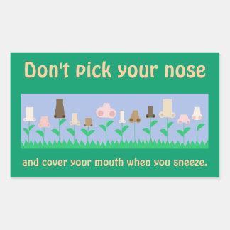 Hygiene Advice Rectangular Sticker
