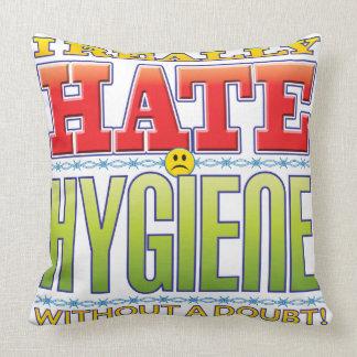 Hygiene Hate Face Pillow