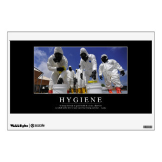 Hygiene: Inspirational Quote Wall Decal