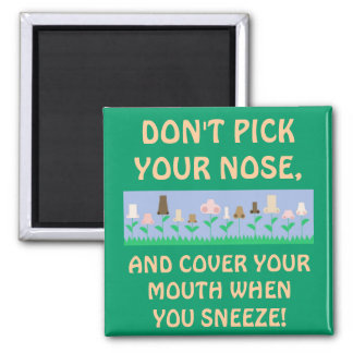 Hygiene Message 2 Inch Square Magnet