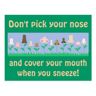 Hygiene Message Postcard