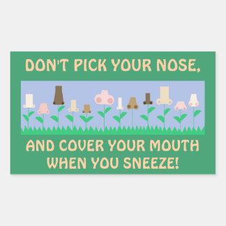 Hygiene Message Rectangular Sticker