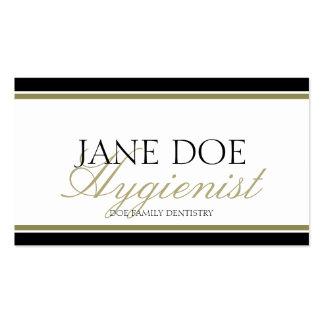 Hygienist Gold Script Business Card Template