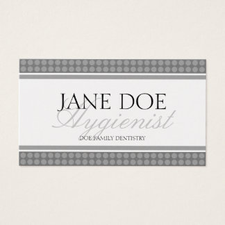 Hygienist Script Platinum Dot Sensation Business Card