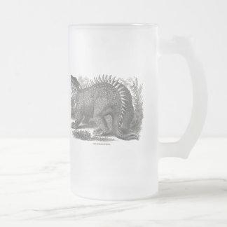 Hylaeosaurus Frosted Glass Beer Mug