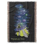 throw, blanket, hylaeus, bee, with, alien,