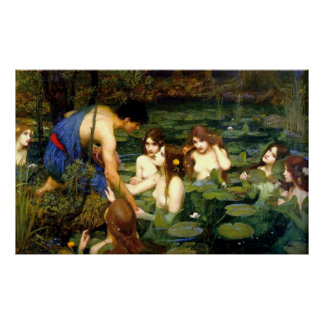 Hylas and the Nymphs (1896) ~ Fine Art Canvas Poster