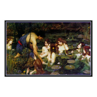 Hylas and the Nymphs - by John Waterhouse Poster