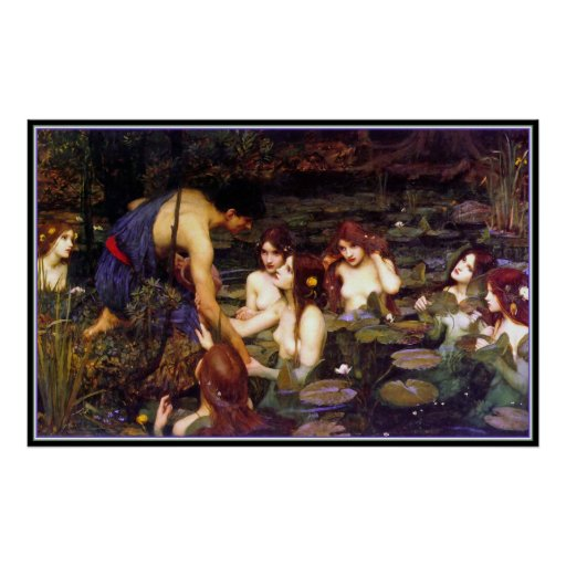 Hylas and the Nymphs - by John Waterhouse Posters