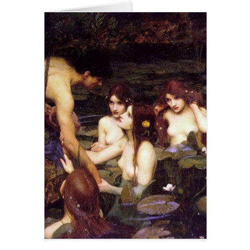 Hylas and the Nymphs Cards