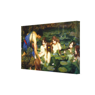 Hylas y el ~ John William Waterhouse de las ninfas Lona Envuelta Para Galerias