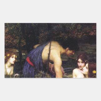 Hylas y el pegatina del Waterhouse de las ninfas