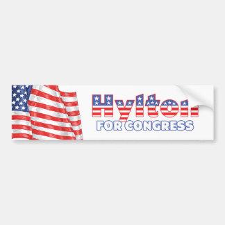 Hylton for Congress Patriotic American Flag Bumper Sticker