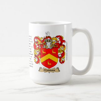 Hyman, the Origin, the Meaning and the Crest Coffee Mug