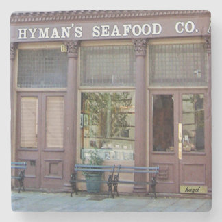 Hyman's Restaurant Charleston, SC. Marble Coaster