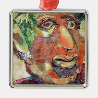 Hymie. a funny loser. a shlemeil Silver-Colored square decoration
