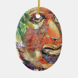 Hymie. a funny loser. a shlemeil Double-Sided oval ceramic christmas ornament