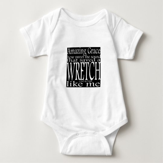Hymn Amazing Grace (Black) Baby Bodysuit