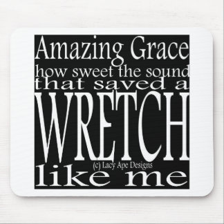 Hymn Amazing Grace (Black) Mouse Pad