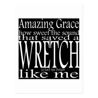 Hymn Amazing Grace (Black) Postcard