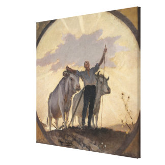 Hymn of the Earth to the Sun, 1892 Gallery Wrap Canvas