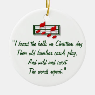 "Hymn Ornament ""I Heard the Bells on Christmas Day"""