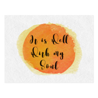 Hymn Postcard - Well With My Soul