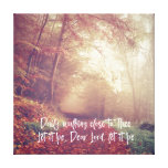 Hymn Typography: Daily Walking Close to Thee Canvas Print