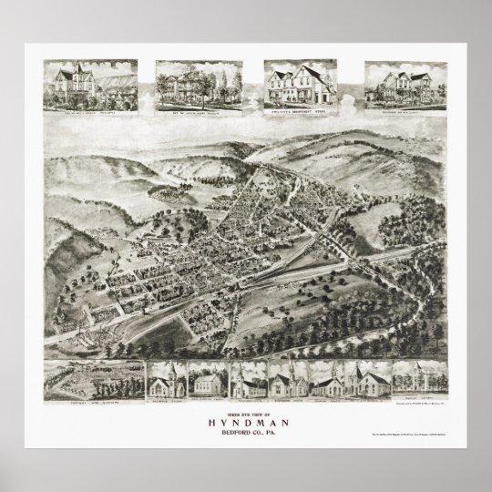 Hyndman, PA Panoramic Map - 1906 Poster