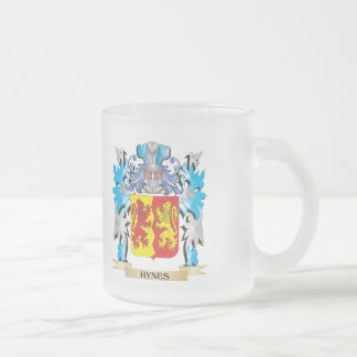 Hynes Coat of Arms - Family Crest Frosted Glass Coffee Mug