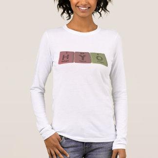 Hyo as Hydrogen Yttrium Oxygen Long Sleeve T-Shirt