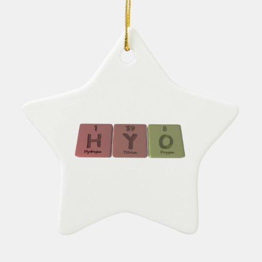 Hyo como oxígeno del itrio del hidrógeno adorno de reyes