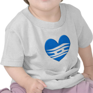 Hyogo Prefecture Flag Heart T-shirts