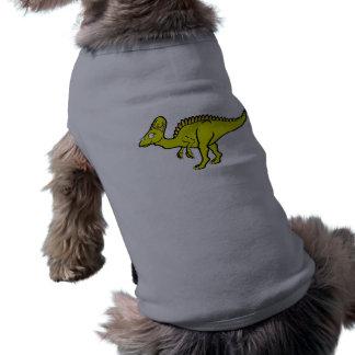 Hypacrosaurus amarillo playera sin mangas para perro