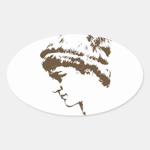 Hypatia Oval Sticker