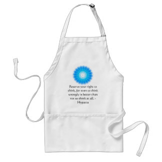 Hypatia Quote about freedom of thought Adult Apron
