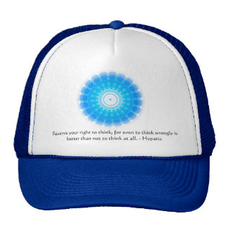 Hypatia Quote about freedom of thought Trucker Hat