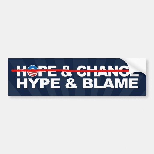 Hype and Blame, Anti-Obama Theme Bumper Stickers