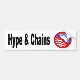 Hype & Chains - white Bumper Sticker