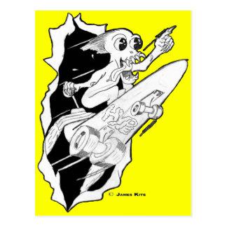 HYPE: Rocket Powered Skateboard Postcard