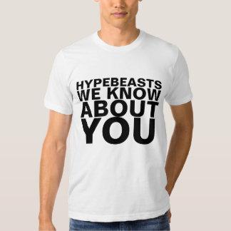 Hypebeasts sabemos sobre usted las camisetas de la remeras