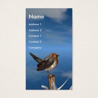 HYPER BIRDS / ROBIN RED BREAST MONOGRAM BUSINESS CARD