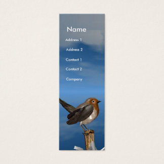 HYPER BIRDS / ROBIN RED BREAST MONOGRAM MINI BUSINESS CARD