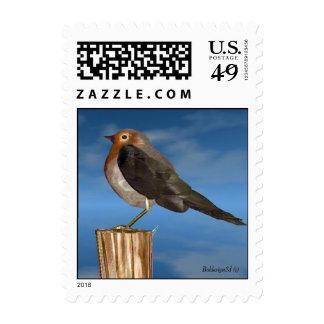 HYPER BIRDS / ROBIN RED BREAST POSTAGE STAMP